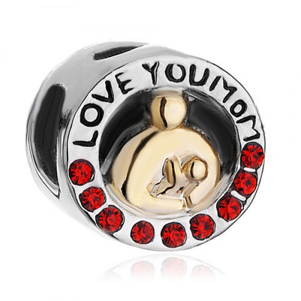 Бусина Charm Love you Mom